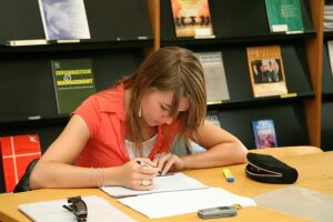 Studentessa in Sala periodici